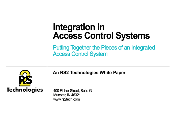 Integration in Access Control Systems