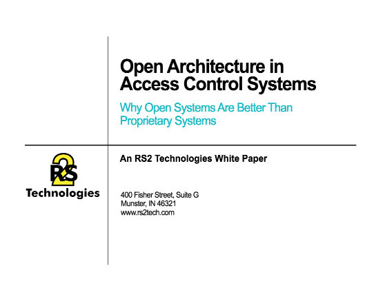Open Architecture in Access Control Systems