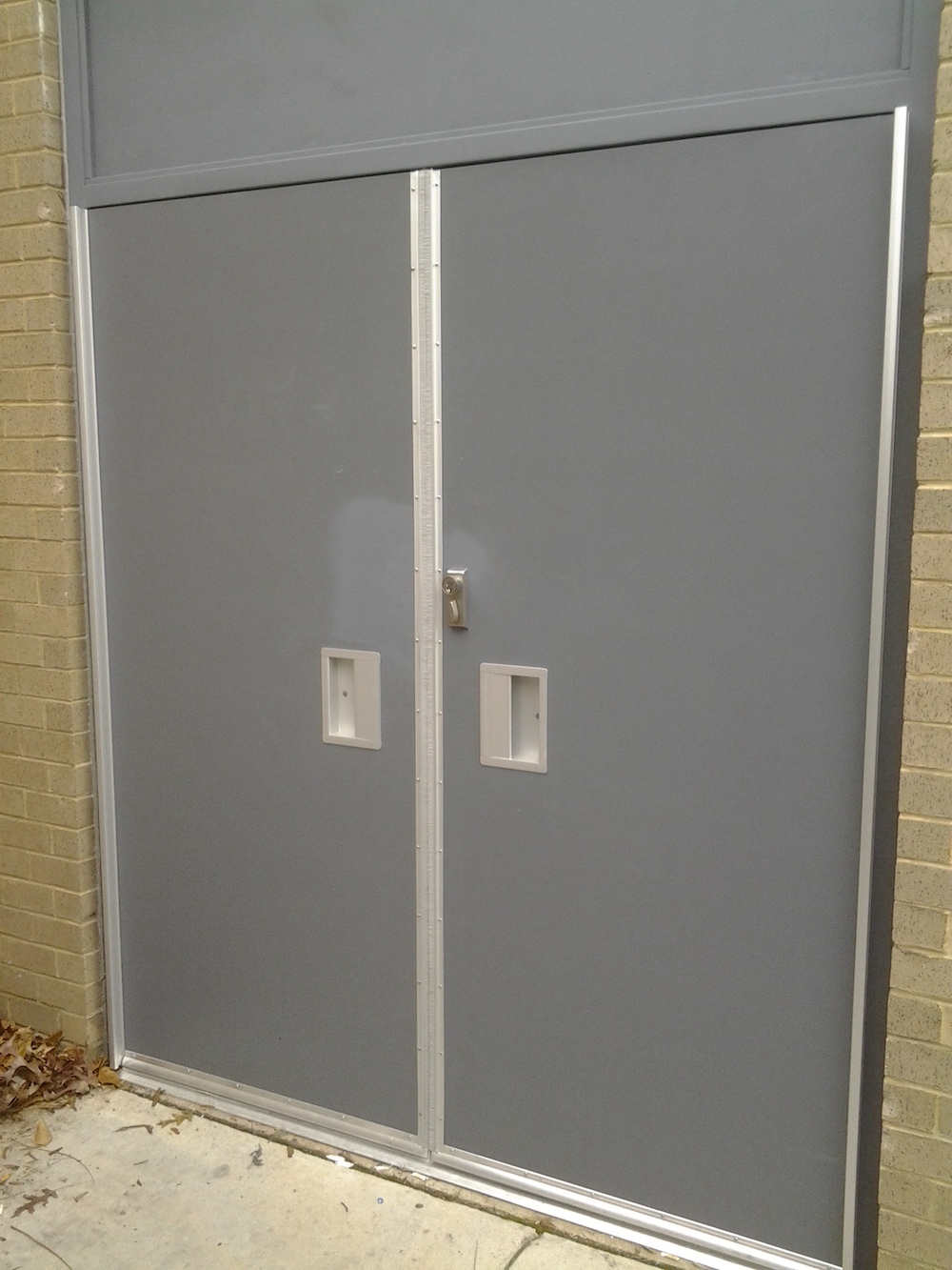 Flush Pull Hollow Metal Doors • National Security & Door